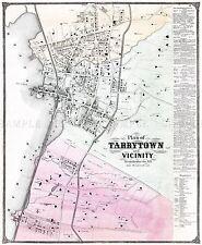 Mapa Antiguo 1868 cervezas Tarrytown cerca de Nueva York réplica cartel impresión pam1884