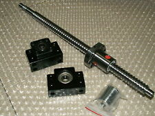 1 anti backlash 25mm ballscrew RM2505-1000mm-C7+BK/BF15 bearing support CNC