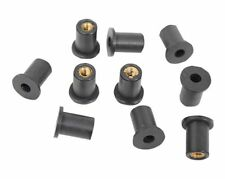 Honda Motorcycle Rubber nuts, 10 x M5 Rubber Well Nuts Motorcycle