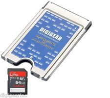 64GB Sandisk (refurb) SD + SD SDHC SDXC to PCMCIA PC Card Adapter