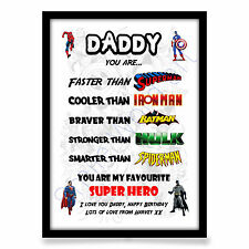 Fathers Day gift Personalised DAD DADDY GRANDAD Birthday Present A4 Print