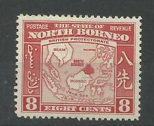 North Borneo 1939 Sg 308, 8c Scarlet, Lightly Mounted Mint [300]