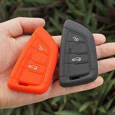 Black Red silicone car key cover case for bmw X5 X6 new remote control protector