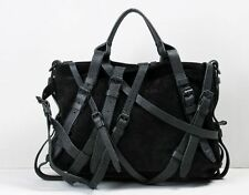 RARE Alexander Wang Kirsten Black Suede Multi-strap tote handbag bag leather