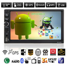 "7"" Car GPS Nav Double 2 Din Android Bluetooth Stereo MP3 MP5 Player USB FM Radio"