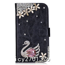 Magnetic Bling Luxury Diamonds Crystal PU Leather wallet flip Stand Cover Case U
