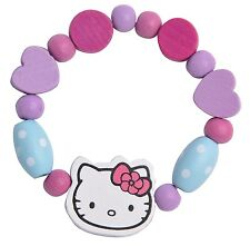 Hello Kitty Make Your Own Bracelet Kit Childrens Jewellery Kids Wooden Beads