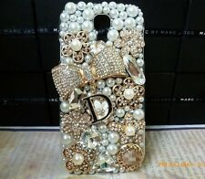 3D Bling Gold Bow Rose Crystal Diamond Case Cover OF Samsung Galaxy S6 NEW  O3