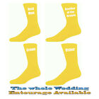 Yellow Mens Wedding Socks, Groom, Best Man, Usher
