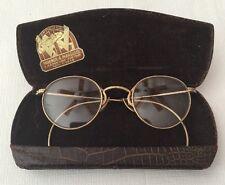 Vintage/Antique Gold Filled Wire Frame Eyeglasses With Case