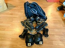 MEN'S NitroBlade ROLLER BLADES INLINE SKATES SIZE 10.5 US WITH CARRY BAG + PADS