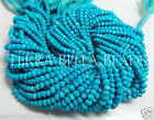 "Full 13"" strand blue TURQUOISE faceted gem stone rondelle beads 3mm - 3.5mm"