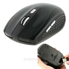 1PCS 2.4GHz USB Wireless Mouse USB Receiver For Computer Schwarz MOT2