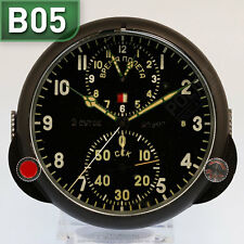 ???-1 RUSSISCHE BORDUHR B-Uhr | RUSSIAN AIRCRAFT BOARD CLOCK Chronograph B05