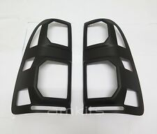 MATT BLACK COVER TAIL LIGHT LAMP PAIR FOR TOYOTA HILUX VIGO CHAMP 2012 2013 2014