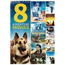 8 Adventure Movies (DVD, 2013, 2-Disc Set) Brand New