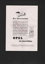 RÜSSELSHEIM, Werbung 1935, Adam Opel AG Automobil-Fabrik Opel-Personenwagen