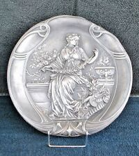 WMF Art Nouveau Silver Plated Wall Plaques (PAIR) Original