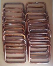 "Lot of 12 Pairs Brown Marble 7"" Square Plastic Macrame Purse Handles Craft"