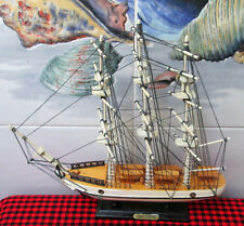 "Vintage Wooden Ship~13""X13""~*CONSTITUTION*~Beautiful Detailed Sail Ship Replica~"