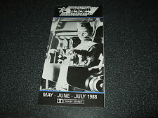 Vintage Film Programme Thunderbirds Gerry Anderson May/June 1988