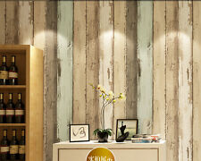 10M Roll Colorful Vintage Realistic Rusty Wooden Board Panel Nonwoven Wallpaper