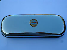 Benelli motorbike vintage brand new chrome glasses case great gift!!!Fathers Day