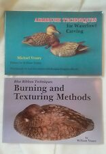 Duck Decoy Carving Aribrush Techniques Burning Texturing 2 New Unused Books HS