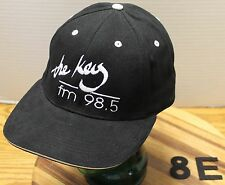 THE KEY 98.5 RADIO STATION SPOKANE WASHINGTON HAT BLACK ADJUSTABLE VGC