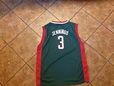 bMilwaukee Bucks Brandon Jennings Youth XL Adidas Jersey