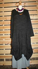 MSDE IN ITALY GREY PARACHUTE QUIRKY JUMPER DRESS SZ 18/20/22/24