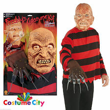 Mens Nightmare on Elm Street Freddy Krueger Blister Kit Halloween Fancy Dress