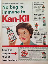 1958 Kan-Kil Fly Mosquito Spray Killer No But is Immune Color Original Ad