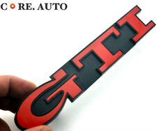 GTI ABS Red Car Front Grille Grill Badge Sticker Emblem For 1992-1998 Golf MK3