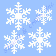 SNOWFLAKES STENCIL CHRISTMAS SNOWFLAKE STENCILS TEMPLATE TEMPLATES CRAFT #5 NEW