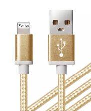 5x forte 1.5m heavy duty tressé usb lead câble de chargeur pour iPhone 6,6+, 5,5c, 5s