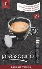 100 Nespresso Compatible Coffee Pods - ESPRESSO VESUVIO CAPSULES (9/10)