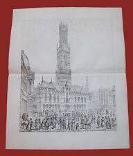 Belfry of Bruges Belfort Belgio Torre Civica Beffroi Belfries John Coney 1842