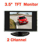 3.5 inch Color TFT LCD 2 Channel Car Rear View Reverse Camera Monitor