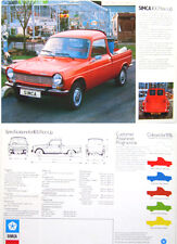 Simca 1100 Pick Up 1975-76 Original UK Single Sheet Sales Brochure