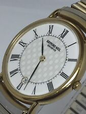 Raymond Weil Men's Watch 9124 Roman Numerals Swiss 18kt Gold Electroplated (i19)