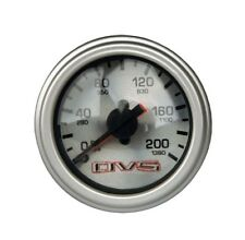 AVS Dual  Needle Gauge Silver Face 200 Psi with RED Color LED Air Ride