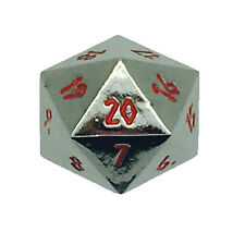 Nightmare Black Polyhedral Metal D20 25mm Dice Norse Foundry Countdown