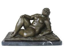 Bronze la Figure de Nick *Grosse Femme* l'acte de Femmes Très avec les Sens.