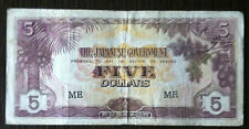 Japanese government issue dollar in Malaya 5 dollar ME  (ignored the shadow)
