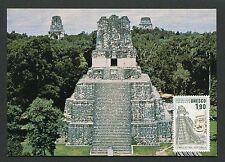 FRANCE MK UNESCO GUATEMALA TEMPEL TIKAL CARTE MAXIMUM CARD MC CM d7815