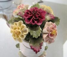 Vtg AYNSLEY SEPTEMBER DAHLIA Birthday month BONE China Bouquet GIFT XMAS