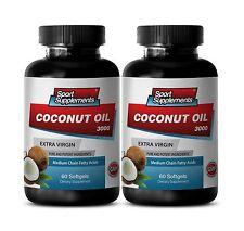 Coconut Oil Softgels - Coconut Oil 3000 -  Coconut Oil for Hair Supplements 2B