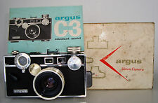 WORKING ARGUS C3 CAMERA w/ ORIGINAL BOX & MANUAL