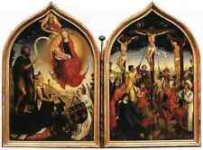 Weyden Diptych Of Jeanne Of France A4 Print